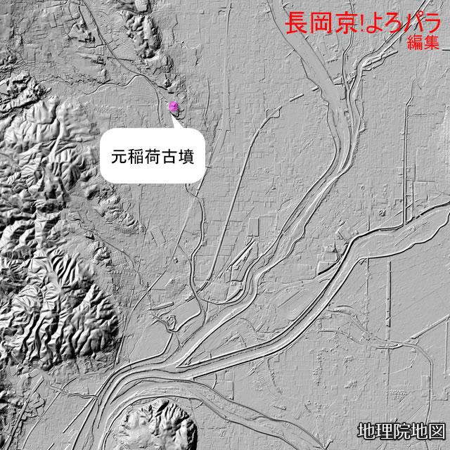 元稲荷古墳と向日丘陵(長岡)