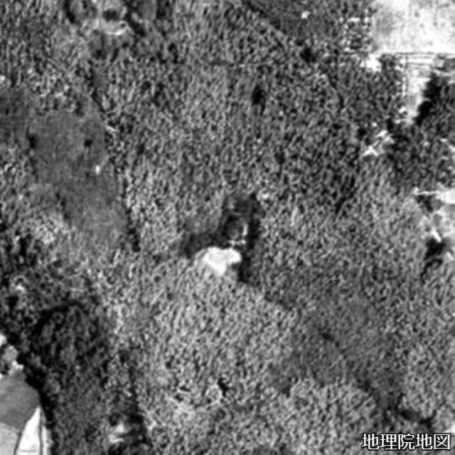 1940年代の北山古墳跡推定地